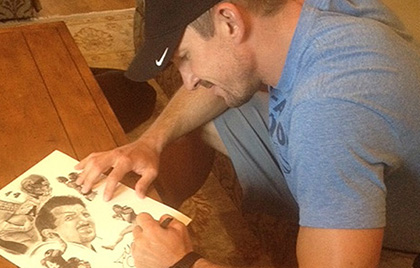 """Limited Edition Autographed """"Dallas"""" print"""